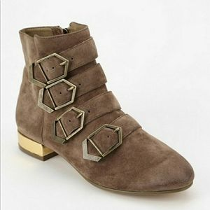 Sam Edelman Nolan suede buckle ankle boots 9.5